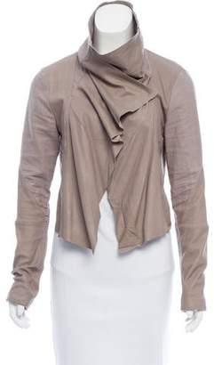 Veda Linen Open Front Jacket