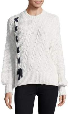 Miss Selfridge Contrast Lattice Sweater