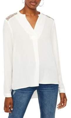 Vero Moda Long-Sleeve Split-Neck Blouse