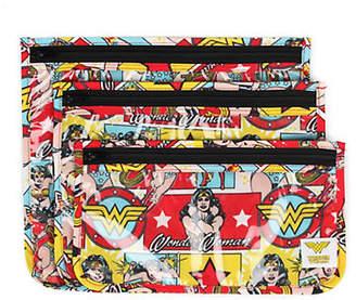 Bumkins Three-Piece Wonder Woman Clear Travel Bags