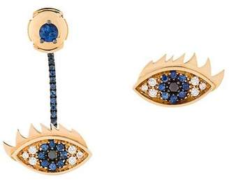 Delfina Delettrez 'Eyes on me' diamond and sapphire earrings