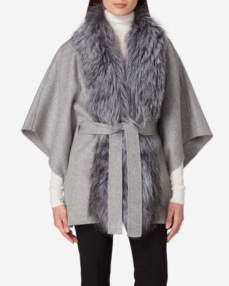 N.Peal Fox Front Cashmere Cape
