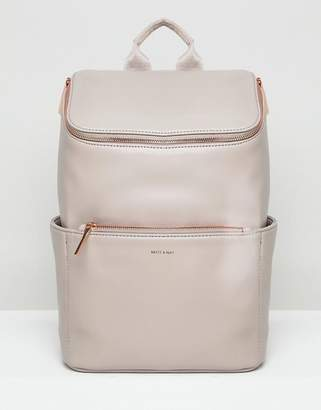 Matt & Nat Brave Rose Gold Zip Backpack