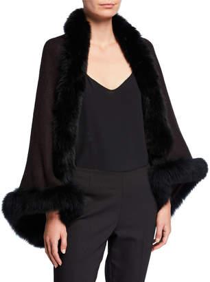 Adrienne Landau Shrug w/ Fox Fur Trim