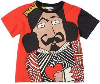 Dolce & Gabbana King Of Love Cotton Jersey T-Shirt
