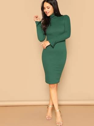 Shein Form Fitting Flounce Sleeve Dress