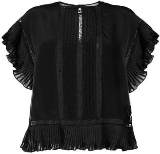 Twin-Set pleated ruffles blouse