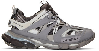 Balenciaga Grey and White Track Sneakers