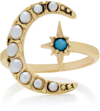 Lulu Frost Tribute Gold-Plated Crescent Ring