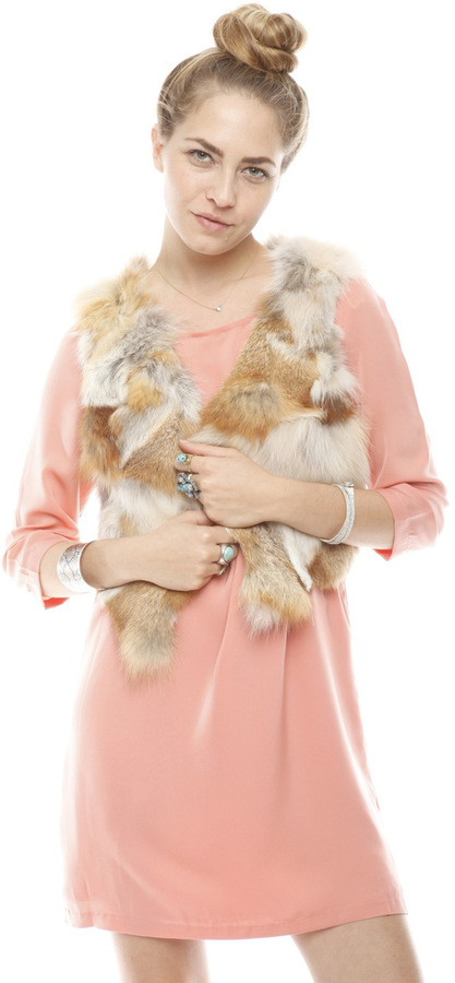Aryn K Cropped Fur Vest