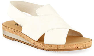 Sesto Meucci Sabita Demi-Wedge Flat Sandals, White