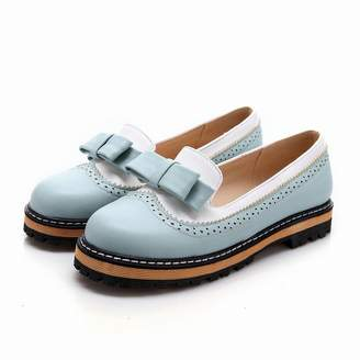 Smakke Big Size 34-43 Spring Autumn Slip On Flat Women Shoes Cute Bowtie Lace Shallow Mouth Ladies Platform Shoes 9