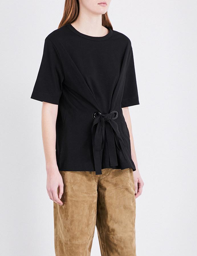 JOSEPHjoseph Eyelet cotton-jersey T-shirt