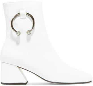 DORATEYMUR Nizip Embellished Leather Ankle Boots - White