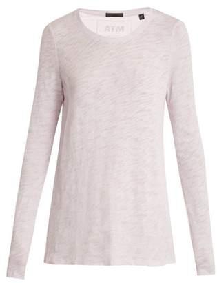 Atm - Destroyed Cotton Slub Jersey T Shirt - Womens - Light Purple