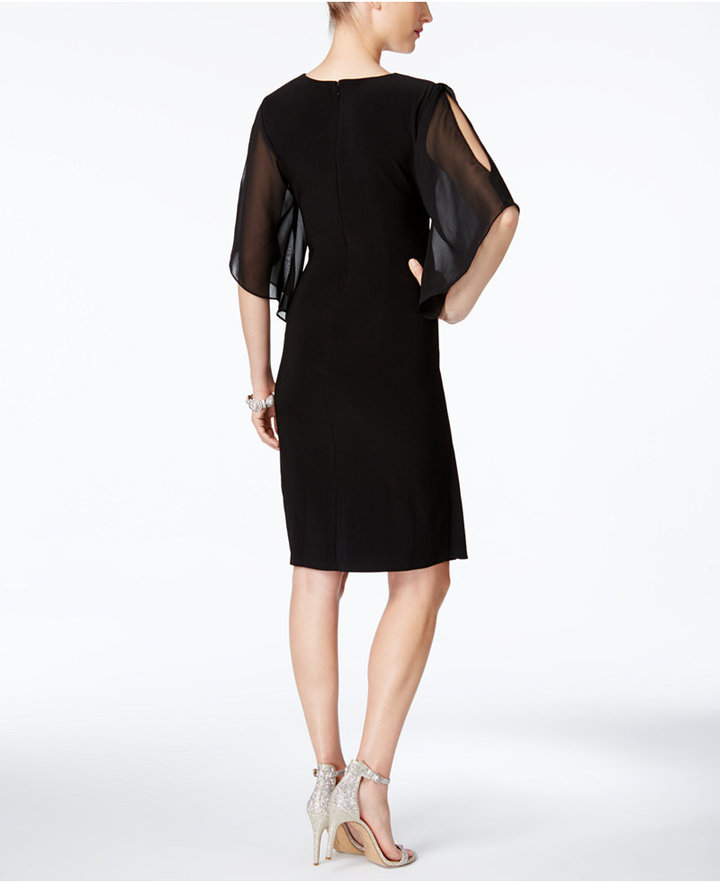 MSK Embellished Illusion Sheath Dress 2