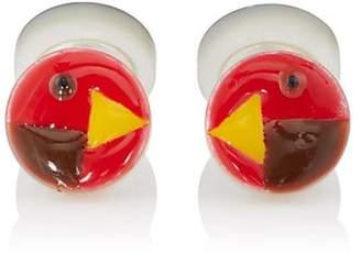 Samuel Gassmann Paris Men's Rooster Double-Sided Cufflinks - Red