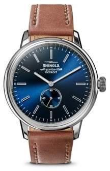 Shinola Bedrock Leather Strap Watch