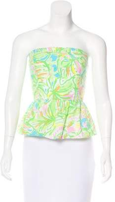 Lilly Pulitzer Strapless Printed Top