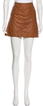 See by Chloe Leather Mini Skirt