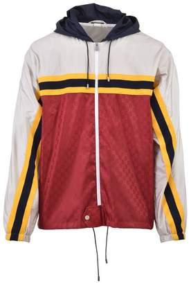 Gucci Gg Nylon Bomber Jacket
