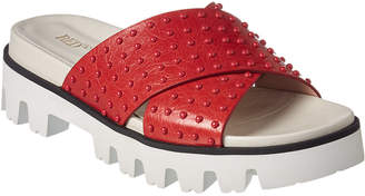 RED Valentino Leisured Leather Slide Sandal
