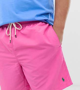 Polo Ralph Lauren Big & Tall Traveler player logo swim shorts in pink