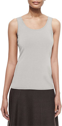 NIC+ZOE Perfect Jersey Scoop-Neck Tank, Silver Cloud $48 thestylecure.com