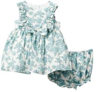 Laura Ashley Ruffle Sleeve Floral Dress (Baby Girls 12-24M)