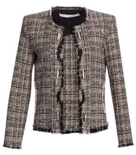 IRO Jocund Distressed Tweed Jacket