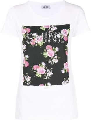 Liu Jo floral patch T-shirt
