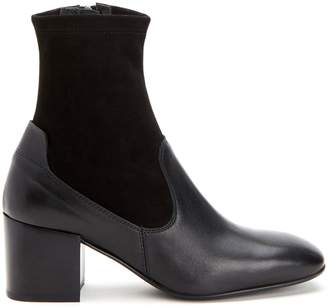 Aquatalia Cammie Leather Suede Booties