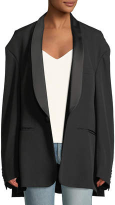 Vetements Shawl-Collar One-Button Oversized Tux Jacket