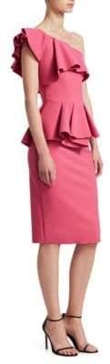 Chiara Boni Mika One-Shoulder Peplum Dress