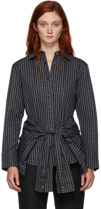 Alexander Wang Black and White Tie Waist Shirt