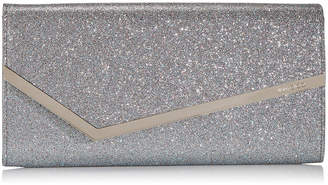 Jimmy Choo ERICA Multi Shaded Fine Glitter Fabric Clutch Bag