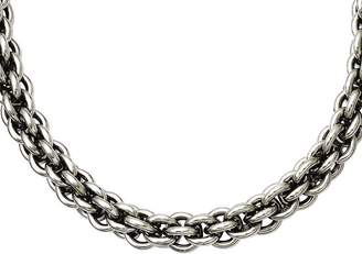 """Steel By Design Stainless Steel 22"""" Round Link Chain Necklace"""