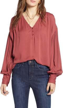 Treasure & Bond V-Neck Blouson Top