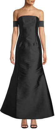 Sachin + Babi Victoria Off-The-Shoulder Satin Gown