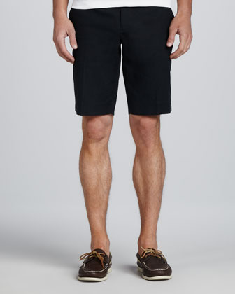 Vince Twill Trouser Shorts, Navy