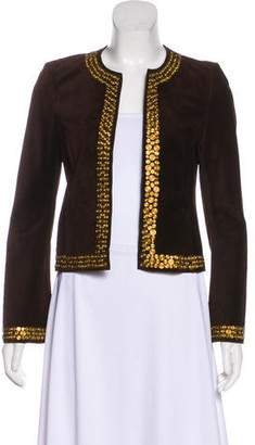 Tory Burch Embellished Suede Jacket