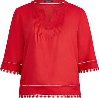 Ralph Lauren Medallion-Lace Top