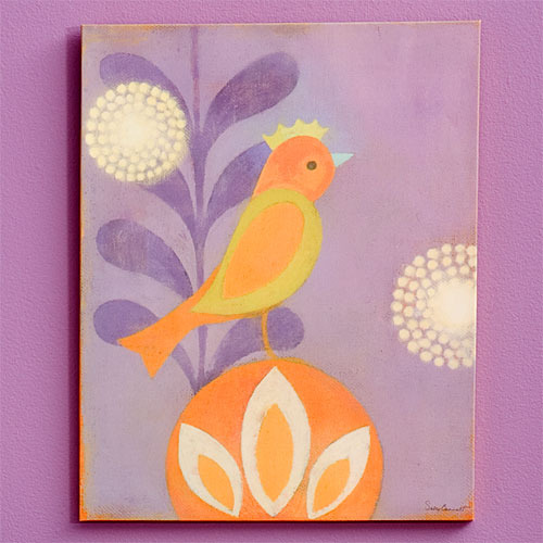 Bon Bon Bird Canvas Reproduction