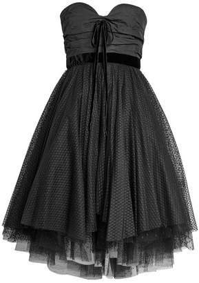 Philosophy di Lorenzo Serafini Bandeau Dress with Tulle Skirt