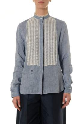 Christian Dior (クリスチャン ディオール) - Dior Cotton Denim & Lace Shirt