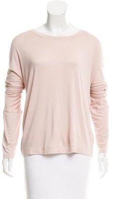Pink Tartan Long Sleeve Scoop Neck Top $65 thestylecure.com