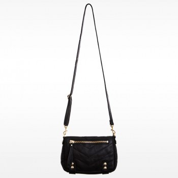Linea Pelle Dylan Quilted Chevron Lady Shoulder