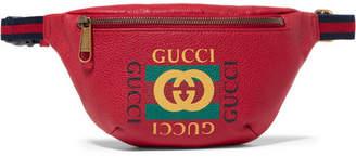 efe854585a9 Gucci Printed Textured-leather Belt Bag