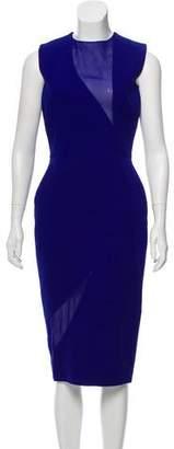 Victoria Beckham Silk and Wool Sleeveless Midi Dress
