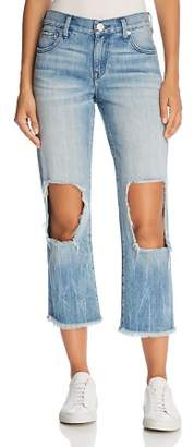 True Religion Star Crop Straight Jeans in Second Quarter